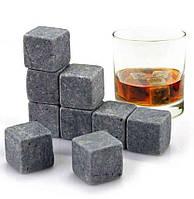 Охлаждающие камни для виски Whiskey Stones-2 (9 шт в наборе), кубики льда, каменный лед