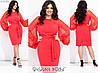 Эффектное платье женское с объемными рукавами (3 цвета) ЮГ/-1429 - Коралловый