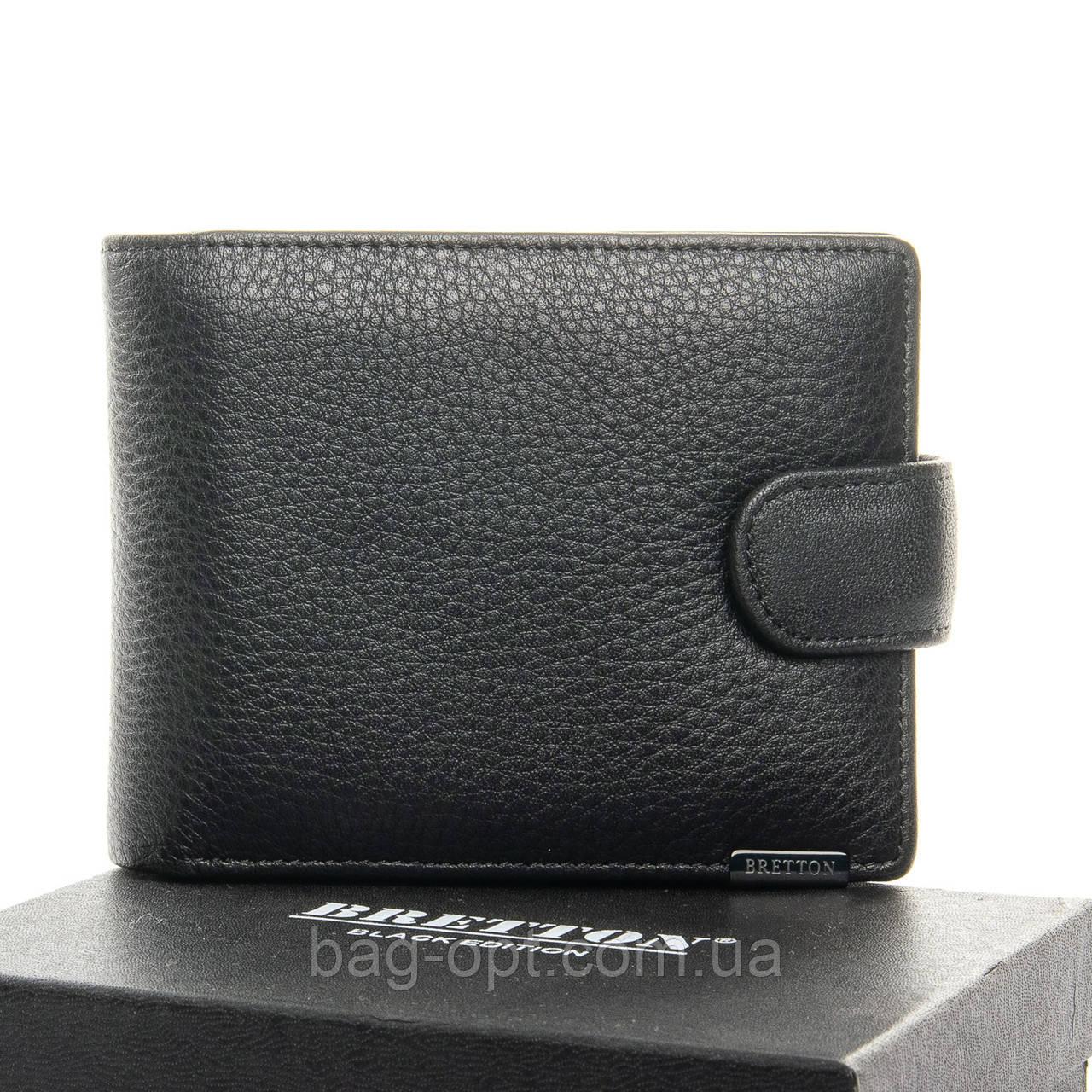 Мужской кошелек из натуральной кожи Bretton (12x9.5x3 см)