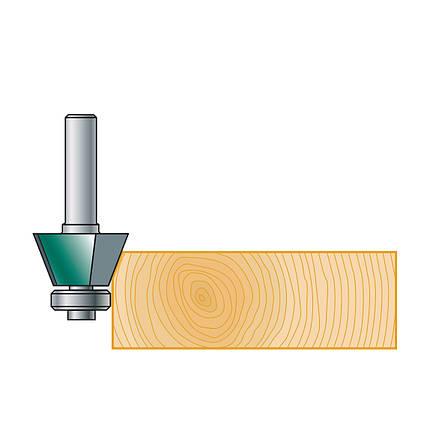 Фреза Stehle для снятия фаски с нижним подшипником  19х15х45х8, z=2, фото 2
