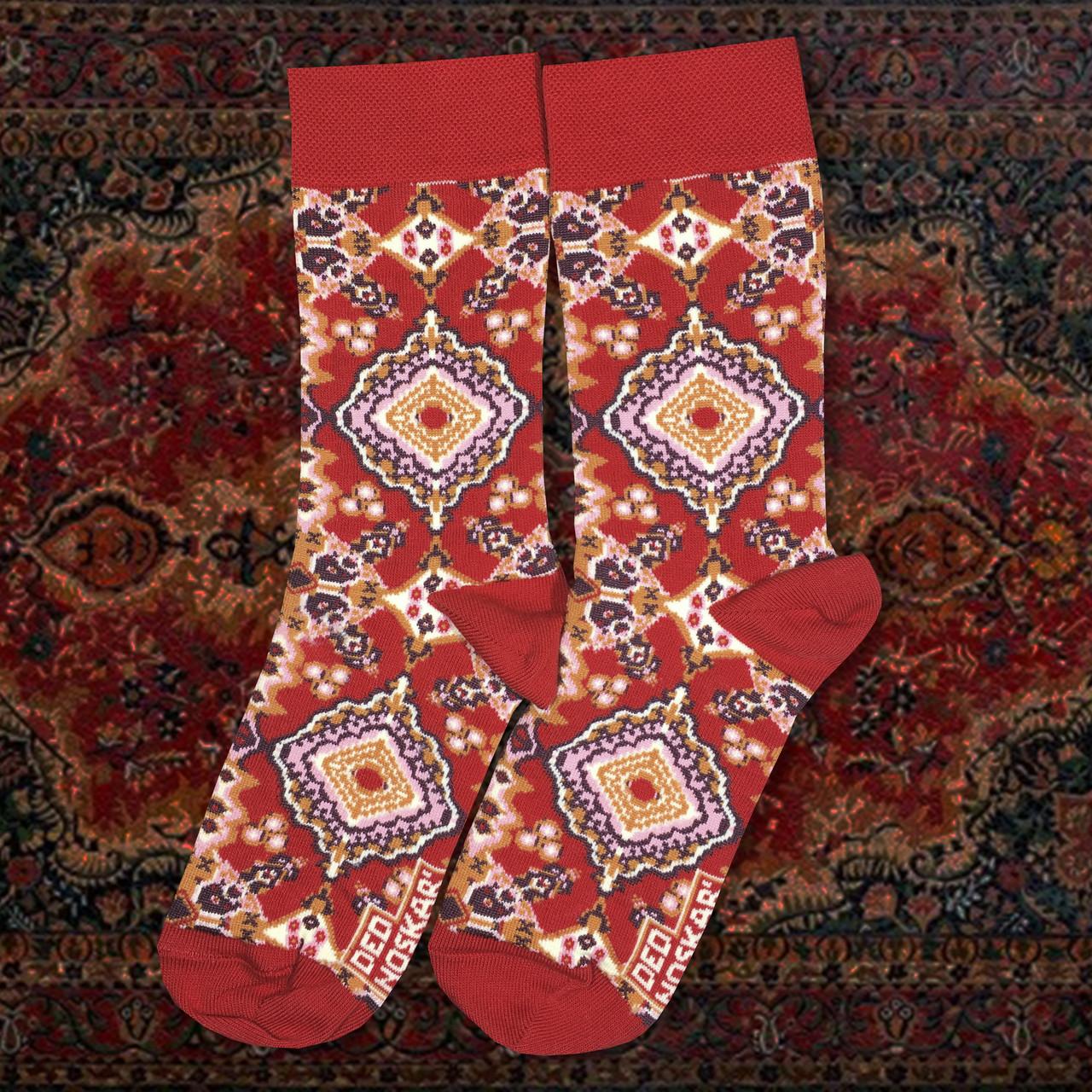 """Шкарпетки з високоякісної бавовни з оригінальним принтом """"LUXURY KYLYM"""""""