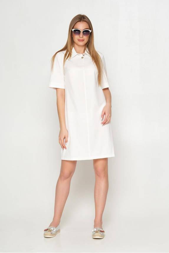 Женское летнее платье поло белое, фото 2