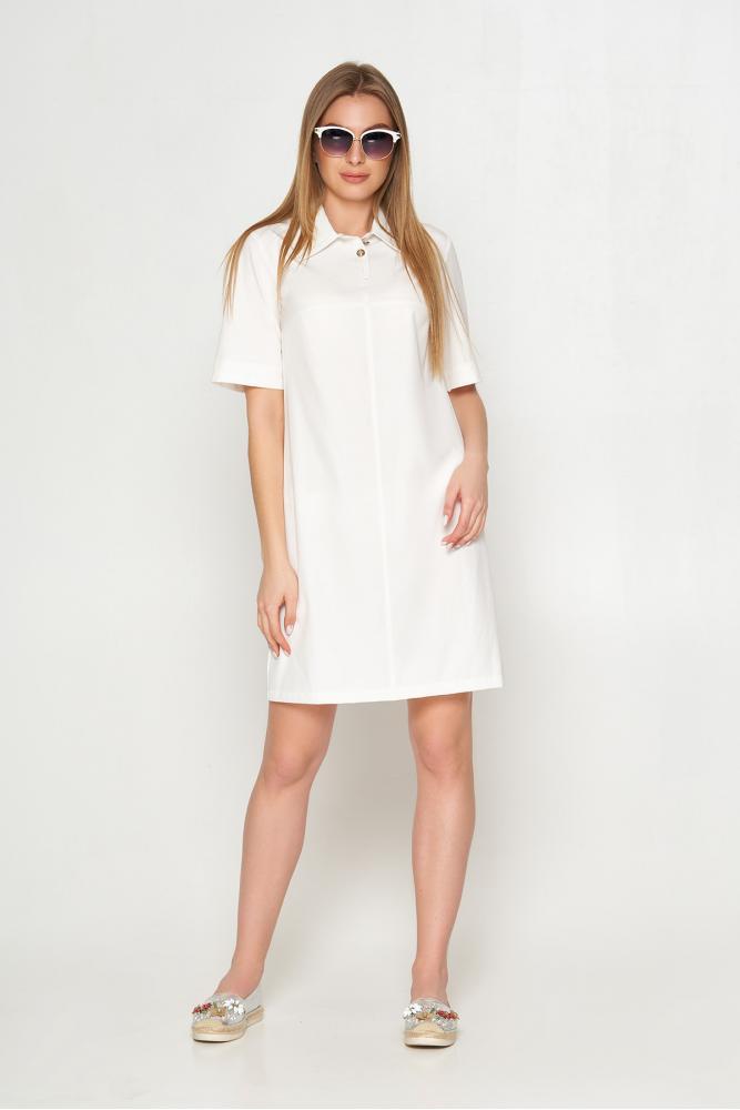 Женское летнее платье поло белое