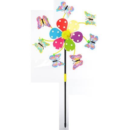 """Ветрячок """"Цветок, бабочки"""", на палочке, M6239, фото 2"""