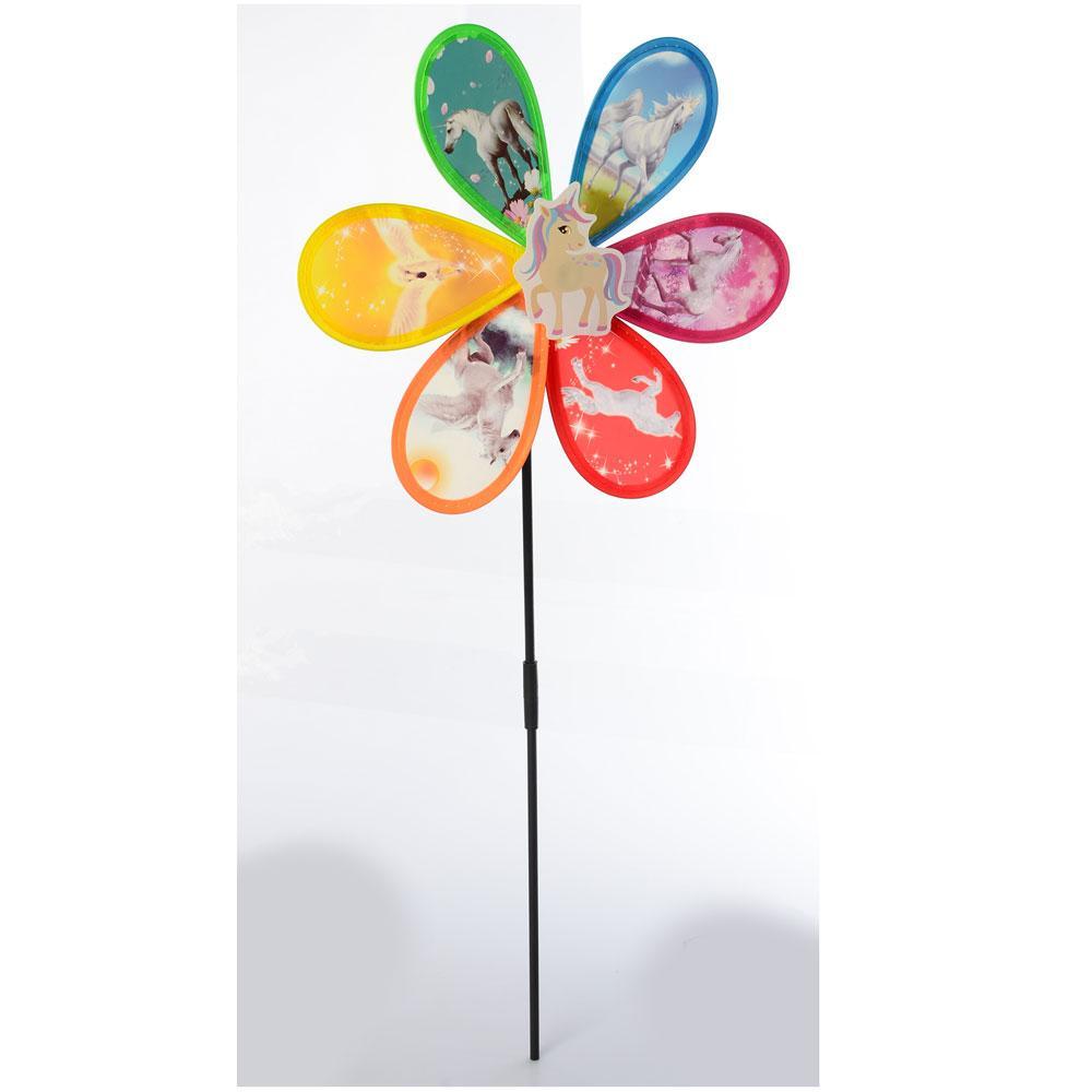 """Ветрячок """"Цветок, единорог"""", на палочке, M6242"""