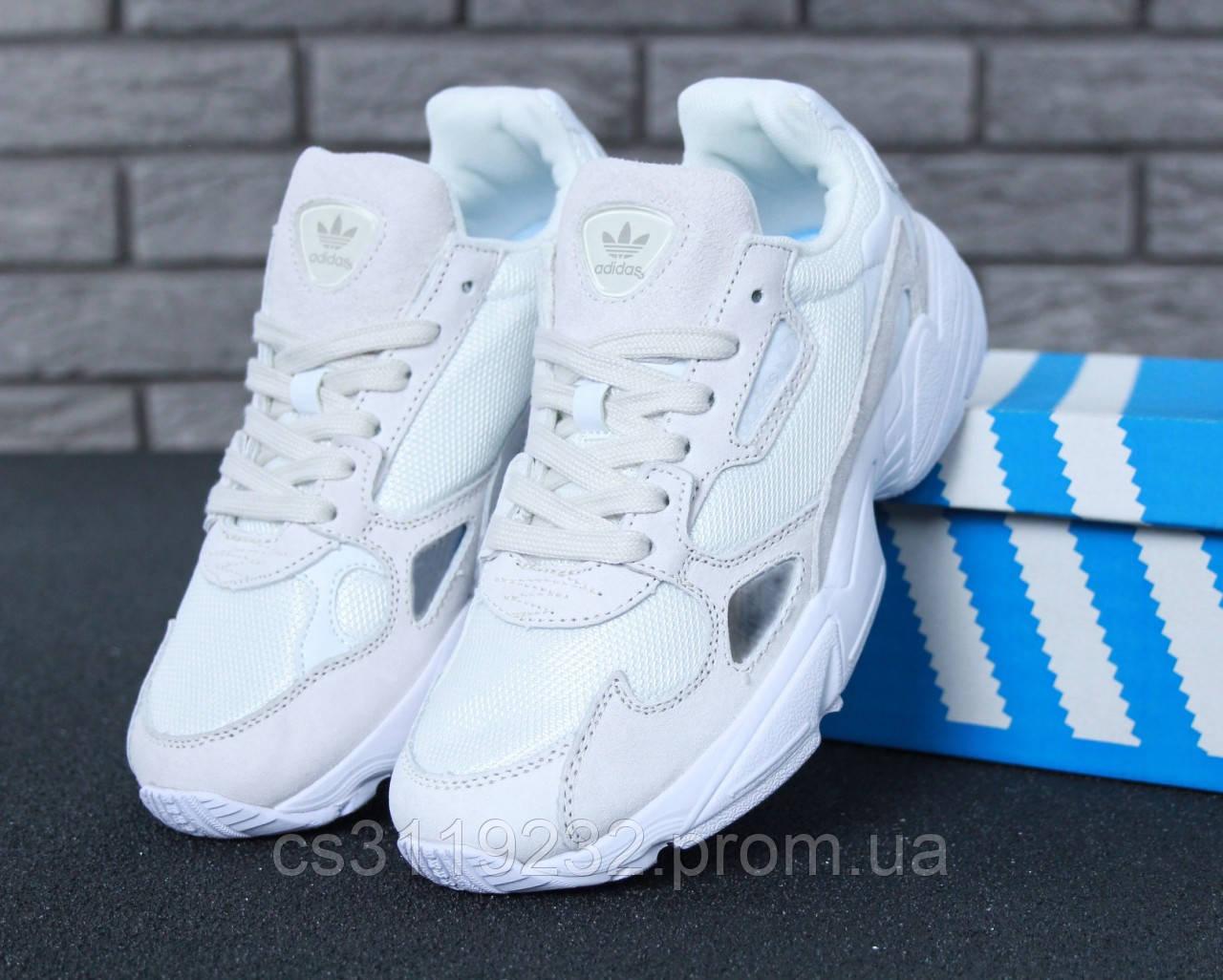 Мужские кроссовки Adidas Falcon Full White (белые)