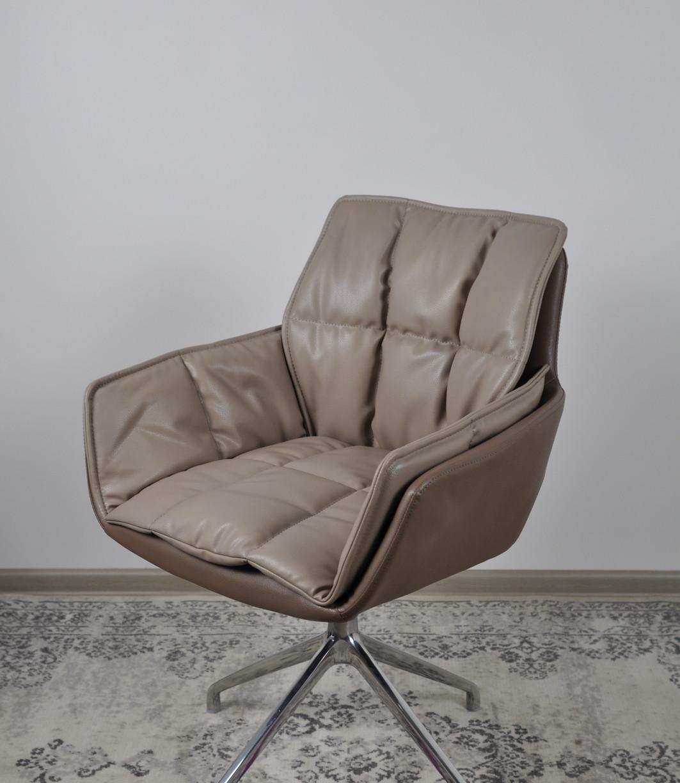 Кресло поворотное PALMA (Пальма) мокко/шоколад от Niсolas, екокожа