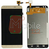 Экран (дисплей) Prestigio MultiPhone PSP3504 Muze C3 + тачскрин золотистый