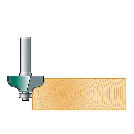 Фреза калевочная Stehle S-профиль с нижним подшипником для ручного фрезера,  29х15х45х8, z=2, R=4, фото 2