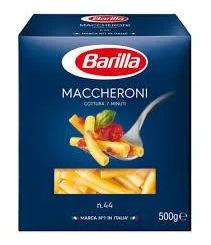 Макарони BARILLA 44 MACCHERONI трубочки 500гр
