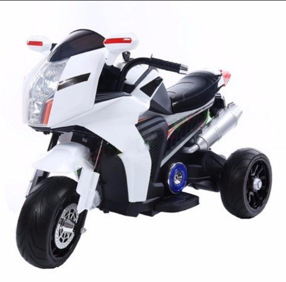 Детский мотоцикл T-7213 EVA WHITE BMW, белый