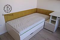 Подростковая кровать с мягким изголовьем