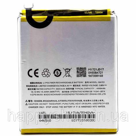 Оригінальна батарея для Meizu M6 note (BA721), фото 2