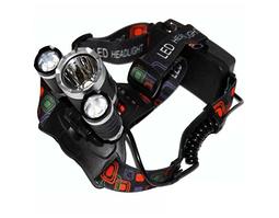 Налобный металлический фонарь светодиодный RJ для автомобилистов туристов и рыбалок