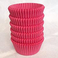 Бумажная форма для кексов, красный цвет , 50шт