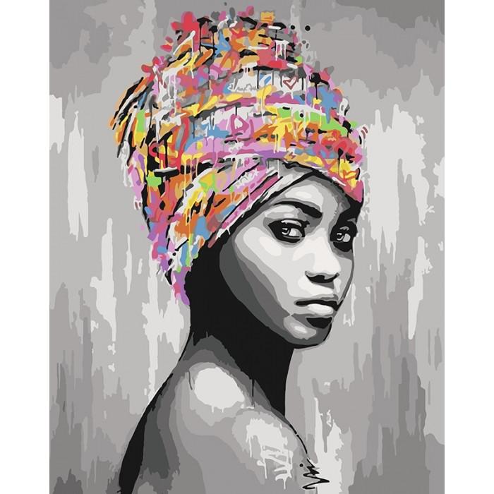 "Картина по номерам ""Африкаская красота"", KHO4587"