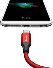 Кабель Baseus Yiven USB-micro USB 2А 1.5 м Червоний (CAMYW-B09), фото 3