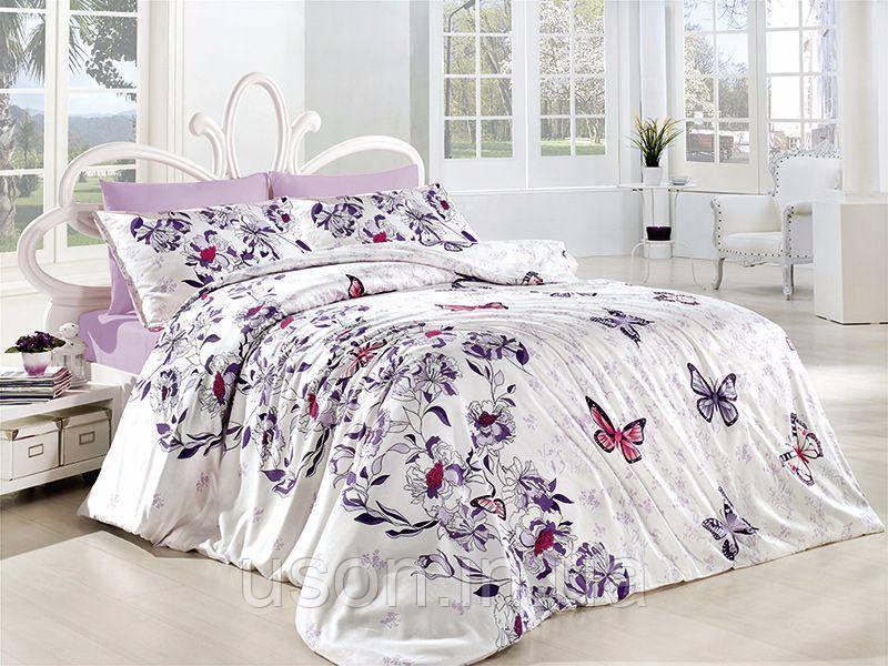 Комплект постельного белья TM First Choice ранфорс Kelebek Lila