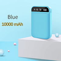 Внешний аккумулятор FLOVEME powerbank 10000mAh 2 порта Цвет Голубой