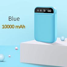 Зовнішній акумулятор FLOVEME powerbank 10000mAh 2 порти Колір Блакитний