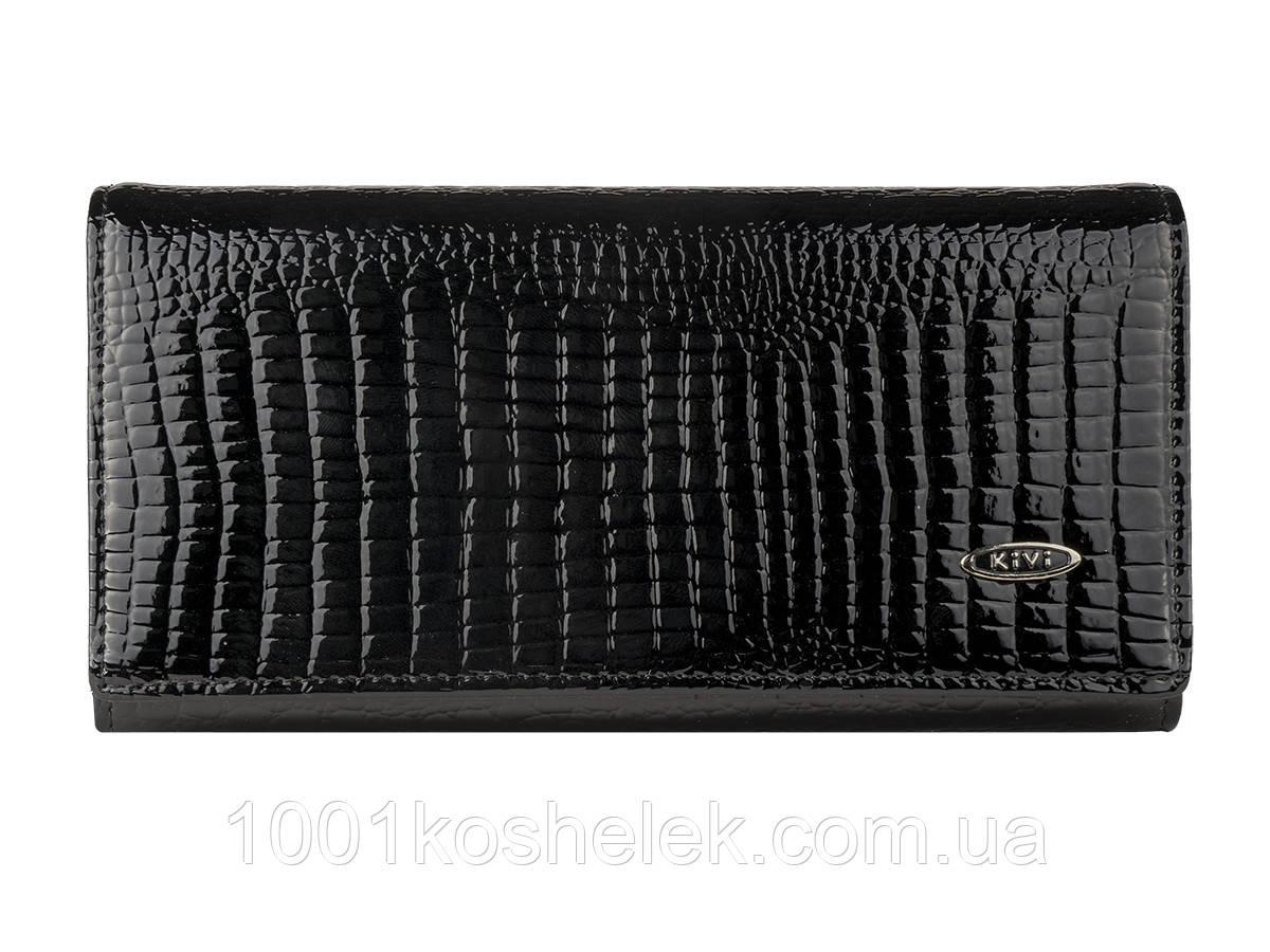 Кошелек женский лаковый Kivi Classik Black 8833