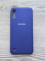 Чохол Silicone Cover Samsung A10/M10 Blue, фото 1