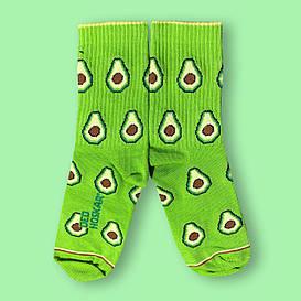 """Носки детские из высококачественного хлопка с оригинальным принтом """"Avocado"""""""