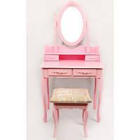 Стол косметический с зеркалом и стулом Bonro B002P (косметичний стіл з дзеркалом і стільцем)