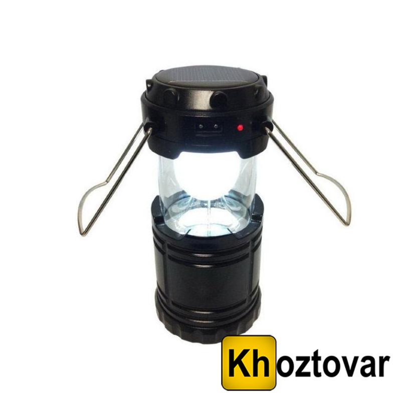 Кемпинговый фонарь с солнечной панелью 6 LED