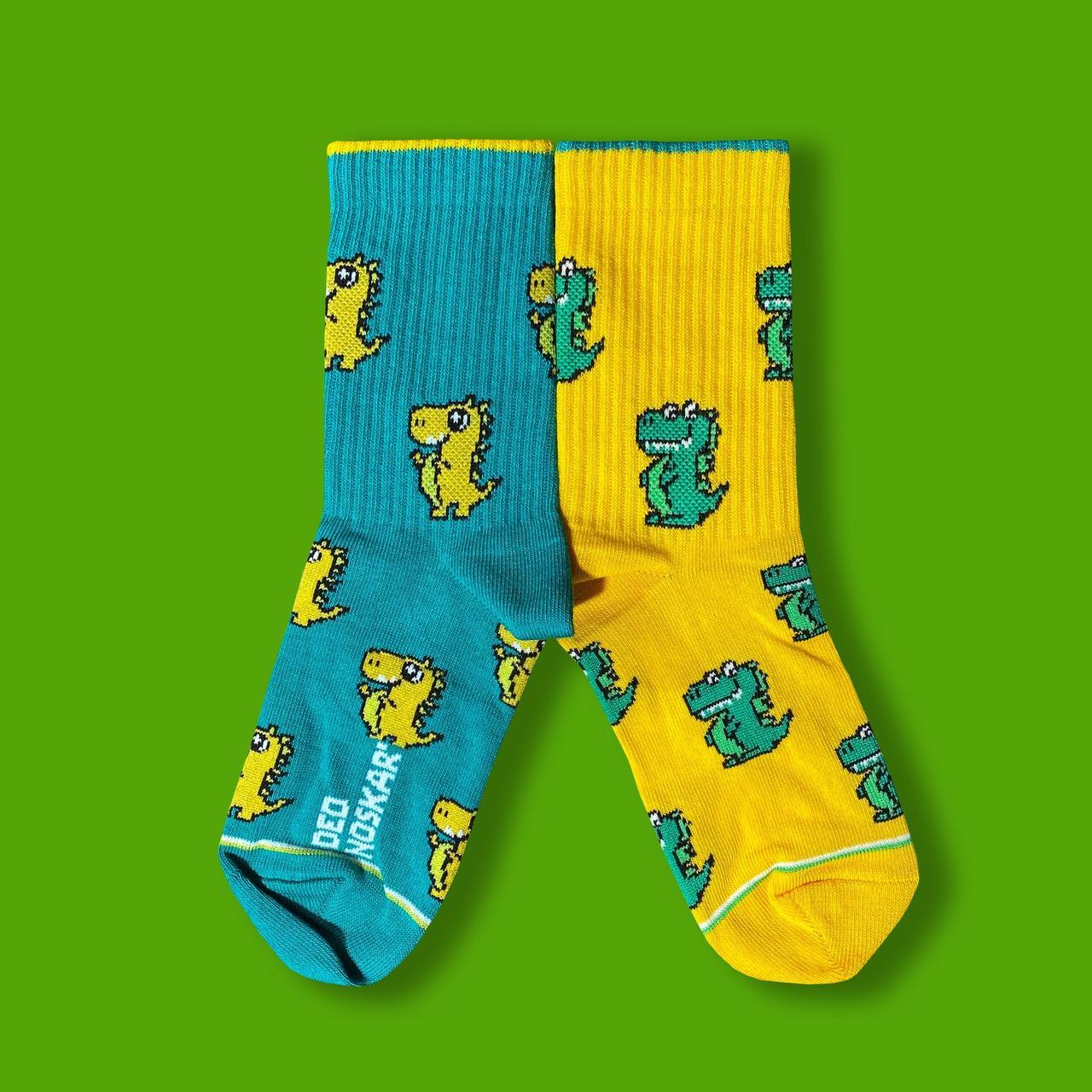 """Носки детские из высококачественного хлопка с оригинальным принтом """"Draco"""""""