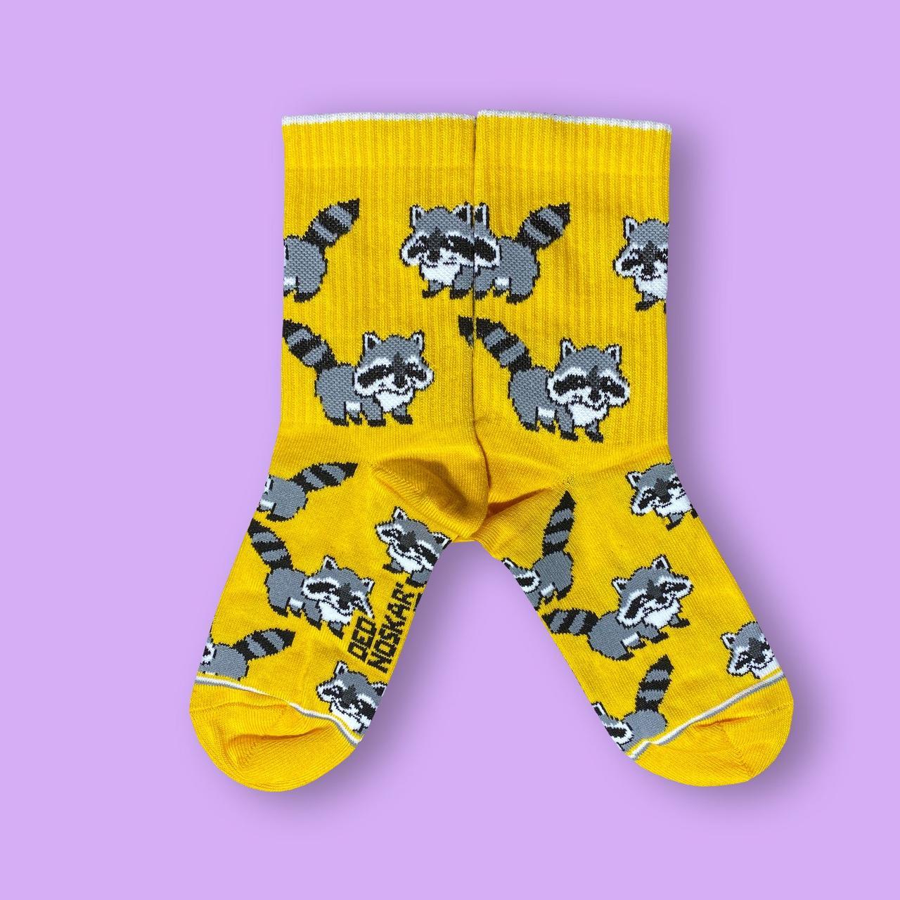 """Шкарпетки дитячі з високоякісної бавовни з оригінальним принтом """"Еноти"""""""