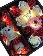 Подарочные наборы мыла из роз С МИШКОЙ XY19-79