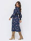 Расклешенное платье  длиной миди в мелкий цветочный принт, фото 8
