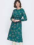 Расклешенное платье  длиной миди в мелкий цветочный принт, фото 2