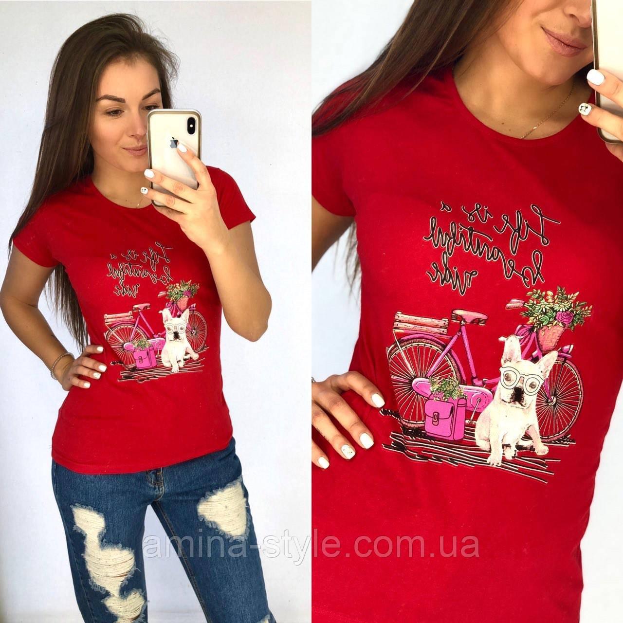Женская футболка, хлопок. S,L,ХL