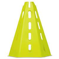 Фишка спортивная конус с отверстиями для штанги и держателем сверху 32см (пластик) Салатовый PZ-FB-1849_1