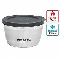 Термоконтейнер для еды Stanley Adventure Bowl (0.53л), стальной ( 79-1066-0,53 )
