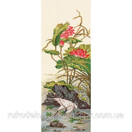 Набор для вышивки крестом Сделай Своими Руками Китайские мотивы-Цапля К-35