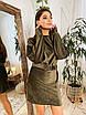 Вельветовое платье с широким рукавом летучая мышь и поясом 73ty1005, фото 2