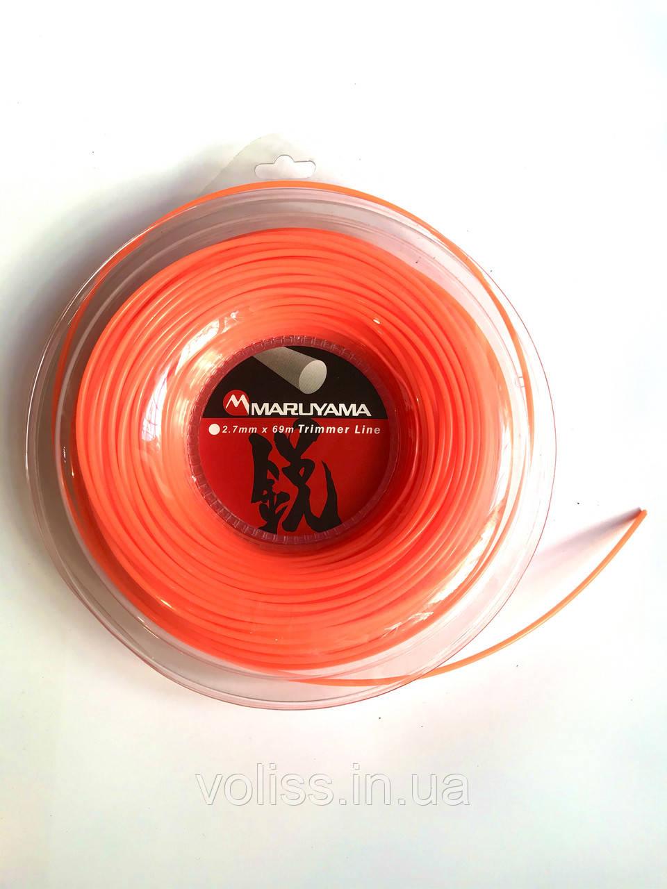 Косильна волосінь (корд) квадратна Maruyama 2,7 мм х 69м