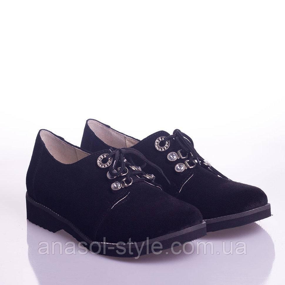 Туфли La Rose 2057 36(24см) Черная замша