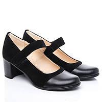 Туфли La Rose 2115 38 ( 25см ) Черная замша