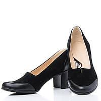 Туфли La Rose классические 2128 высокий каблук Черная замша