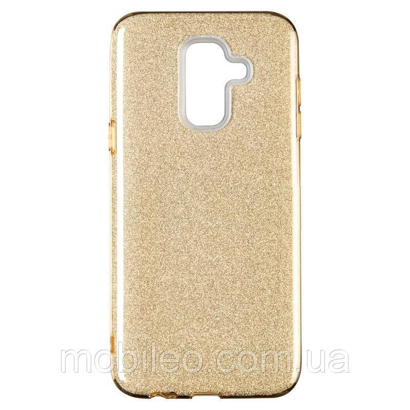 Чехол Remax Glitter Silicon Case Samsung J610 Galaxy J6 Plus Gold