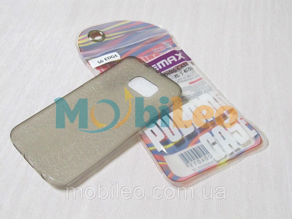 Чехол TPU Remax Ultra Thin Silicone case Samsung G925 Galaxy S6 Edge черный