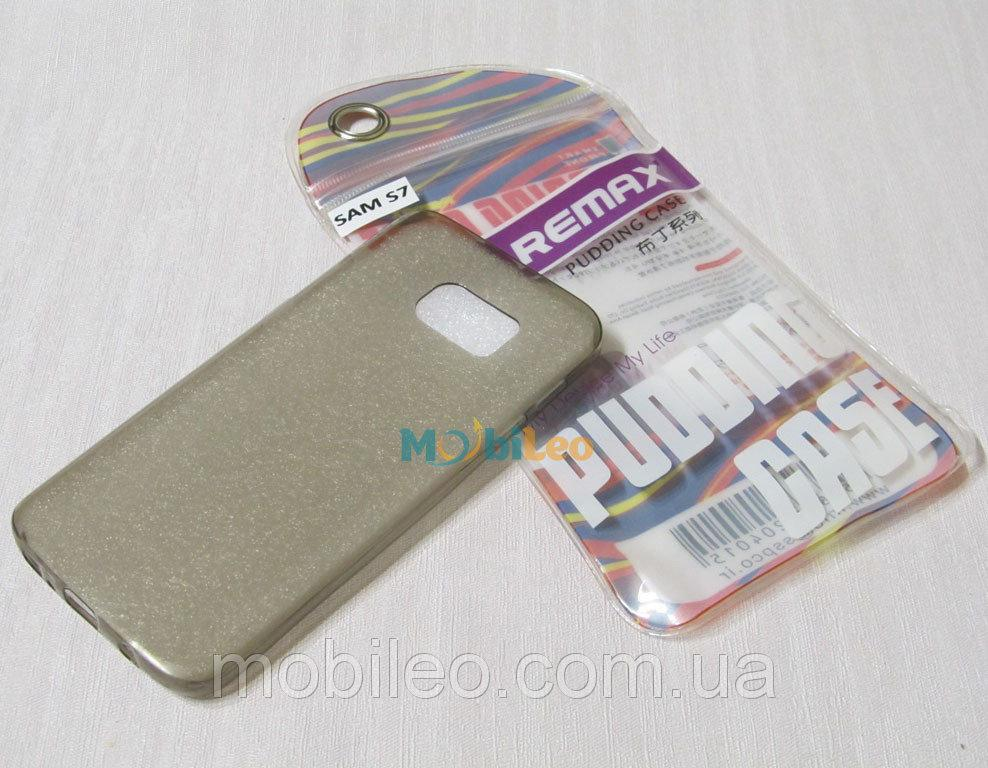 Чехол TPU Remax Ultra Thin Silicone case Samsung G930 Galaxy S7 черный