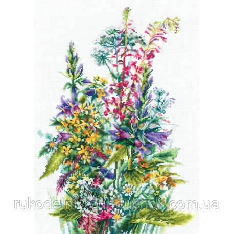 Набор для вышивки крестом Сделай Своими Руками Полевые цветы П-50
