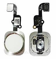 Шлейф для Apple iPhone 6s | 6s Plus с кнопкой меню (Home), белый