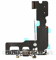 Шлейф для Apple iPhone 7 Plus с гнездом зарядки и компонентами, серый