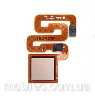 Шлейф для Xiaomi Redmi 3S | Redmi 3 Pro, с сканером отпечатка пальца, золотой ориг. к-во
